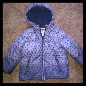 Ombre Polka Dot Girls Winter Coat